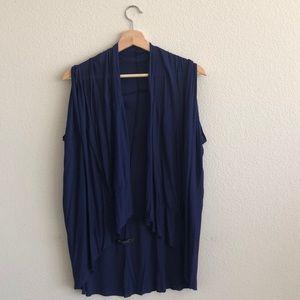 EUC Patterson Kincaid Blue Rayon Vest SZ Large